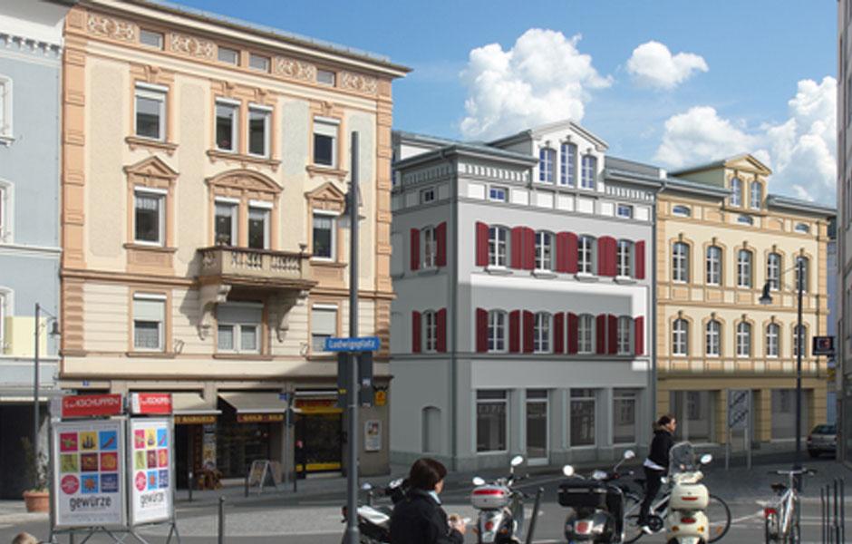Sanierung-und-Neubau-WohnGeschaeftshaeuser-Rosenheim-Ludwigsplatz